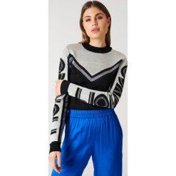 Swetry klasyczne damskie: Gestuz Sweter Ramona – Black