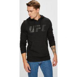 Reebok - Bluza. Czarne bluzy męskie rozpinane Reebok, l, z nadrukiem, z bawełny, z kapturem. Za 249,90 zł.