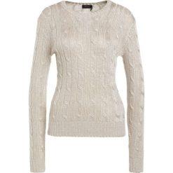 Swetry klasyczne damskie: Polo Ralph Lauren LONG SLEEVE Sweter metallic taupe