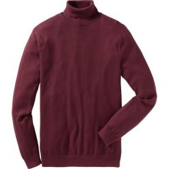 Sweter z golfem Regular Fit bonprix czerwony klonowy. Czerwone golfy męskie marki bonprix, m, z dzianiny. Za 79,99 zł.