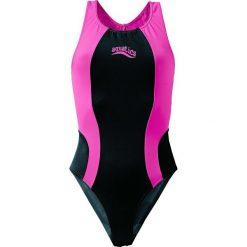 Stroje jednoczęściowe dziewczęce: Strój kąpielowy bonprix czarno-różowy