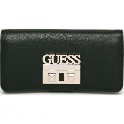 Guess Jeans - Portfel. Czarne portfele damskie Guess Jeans, z aplikacjami, z jeansu. Za 279,90 zł.