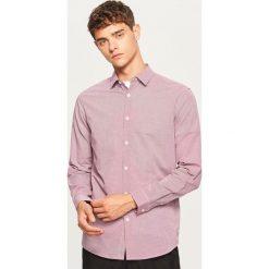 Koszula slim fit - Czerwony. Czerwone koszule męskie slim marki Cropp, l. Za 69,99 zł.