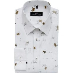 Koszula MICHELE KDWE000136. Niebieskie koszule męskie na spinki marki bonprix, m, z nadrukiem, z klasycznym kołnierzykiem, z długim rękawem. Za 229,00 zł.