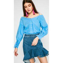 Pepe Jeans - Bluzka. Niebieskie bluzki asymetryczne Pepe Jeans, l, z bawełny, casualowe. W wyprzedaży za 179,90 zł.