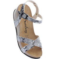 Rzymianki damskie: Sandały w kolorze czarno-białym