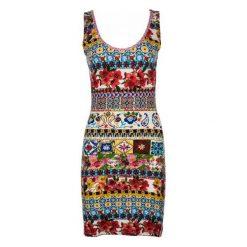 Desigual Sukienka Damska Luana Xs Wielo Barwny. Szare sukienki marki Desigual, l, z tkaniny, casualowe, z długim rękawem. W wyprzedaży za 229,00 zł.