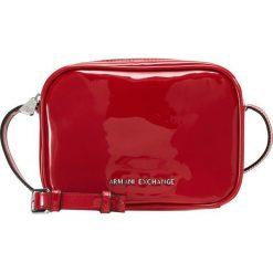 Armani Exchange Torba na ramię red. Czarne torebki klasyczne damskie marki Armani Exchange, l, z materiału, z kapturem. Za 419,00 zł.