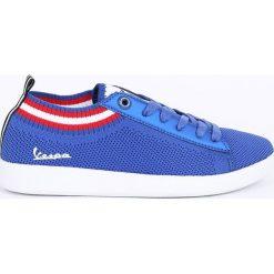 Vespa - Tenisówki. Niebieskie tenisówki damskie Vespa, z gumy, na sznurówki. W wyprzedaży za 219,90 zł.