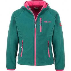 """Kurtka polarowa """"Borgund XT"""" w kolorze turkusowo-różowym. Zielone kurtki dziewczęce marki Trollkids, z materiału. W wyprzedaży za 112,95 zł."""