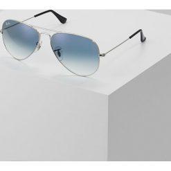 RayBan AVIATOR Okulary przeciwsłoneczne silvercoloured/gradient light blue. Szare okulary przeciwsłoneczne damskie aviatory marki Ray-Ban. Za 629,00 zł.