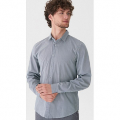 Koszula w prążki - Szary. Szare koszule męskie marki House, l, z bawełny. Za 79,99 zł.