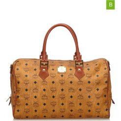 Torebki klasyczne damskie: Skórzana torebka w kolorze jasnobrązowym – 55 x 28 x 30 cm