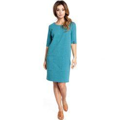 DALIA Sukienka pudełkowa z kieszeniami - szmaragdowa. Niebieskie sukienki na komunię marki numoco, na imprezę, s, w kwiaty, z jeansu, sportowe, sportowe. Za 119,00 zł.