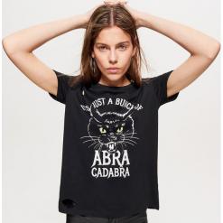 Koszulka z motywem HALLOWEEN - Czarny. Czarne t-shirty damskie marki Cropp, l. Za 39,99 zł.