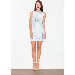 Sukienka we Wzór Kwiaty Odcienie Błękitu. Czarne sukienki balowe marki bonprix, do pracy, w paski, moda ciążowa. Za 139,90 zł.