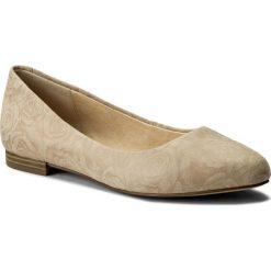 Baleriny CAPRICE - 9-22107-20 Beige Roses 412. Brązowe baleriny damskie zamszowe marki Caprice. W wyprzedaży za 179,00 zł.