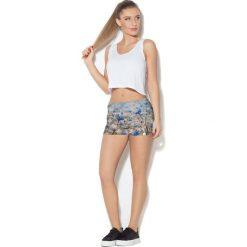 Spodnie damskie: Colour Pleasure Spodnie damskie CP-020 53 biało-zielono-niebieskie r. M-L