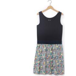 Sukienki dziewczęce: Wzorzysta rozkloszowana sukienka, półdługa
