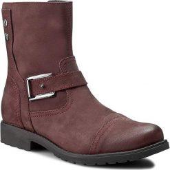 Botki LASOCKI - 1853-03 Bordowy. Czerwone buty zimowe damskie Lasocki, z nubiku, na obcasie. W wyprzedaży za 100,00 zł.