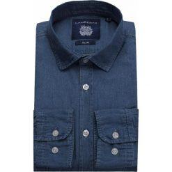 Koszula Jeansowa Niebieska Francis. Niebieskie koszule męskie jeansowe marki LANCERTO, m, z klasycznym kołnierzykiem. W wyprzedaży za 199,90 zł.
