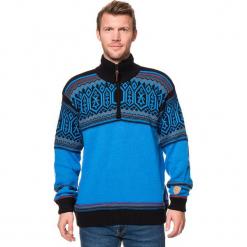 Sweter w kolorze niebiesko-czarnym. Niebieskie golfy męskie marki GALVANNI, l, z okrągłym kołnierzem. W wyprzedaży za 159,95 zł.