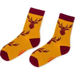 Skarpety Wysokie Unisex FREAK FEET - LJEL-MBR Kolorowy Żółty. Żółte skarpetki damskie marki Freak Feet, w kolorowe wzory, z bawełny. Za 19,99 zł.