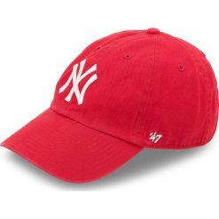 Czapka z daszkiem 47 BRAND - New York Yankees 47 B-RGW17GWS-RD Czerwony. Czerwone czapki z daszkiem męskie 47 Brand, z bawełny. Za 99,00 zł.