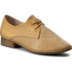 Oxfordy CAPRICE - 9-23502-28 Saffron Nappa 625. Żółte jazzówki damskie Caprice, ze skóry. W wyprzedaży za 149,00 zł.