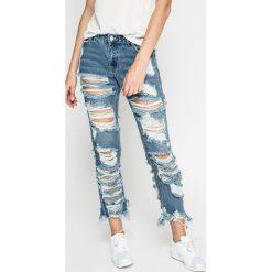 Missguided - Jeansy. Niebieskie jeansy damskie rurki marki Missguided, z bawełny. W wyprzedaży za 99,90 zł.