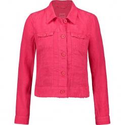 Kurtka dżinsowa w kolorze różowym. Czerwone kurtki damskie marki Taifun. W wyprzedaży za 173,95 zł.