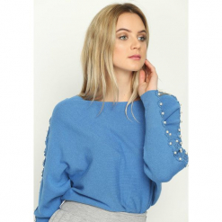 Niebieski Sweter Tudor Epoch. Niebieskie swetry klasyczne damskie Born2be, m. Za 69,99 zł.