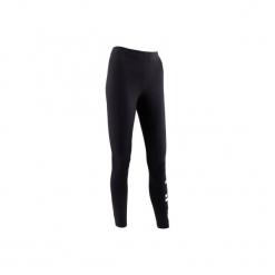 Legginsy slim Gym & Pilates 500 damskie. Czarne legginsy sportowe damskie marki Adidas, xs, z bawełny. W wyprzedaży za 69,99 zł.