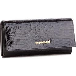 Duży Portfel Damski MONNARI - PUR0616-020 Black. Czarne portfele damskie marki Monnari, z lakierowanej skóry. W wyprzedaży za 179,00 zł.