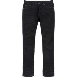 Dżinsy z połyskującą powłoką Slim Fit Straight bonprix czarny denim. Czarne jeansy męskie bonprix. Za 139,99 zł.