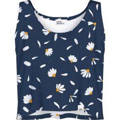 Bluzki asymetryczne: Colour Pleasure Koszulka damska CP-035 189 granatowo-biała r. XS/S