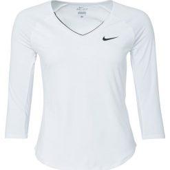Nike Performance PURE Koszulka sportowa white/black/black. Białe topy sportowe damskie marki Nike Performance, m, z elastanu, z długim rękawem. Za 199,00 zł.