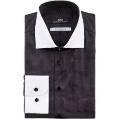 Koszula MASSIMO 15-01-09. Czarne koszule męskie na spinki marki Premium by Jack&Jones, l, z bawełny, z włoskim kołnierzykiem, z długim rękawem. Za 229,00 zł.