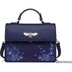Kuferki damskie: Kuferek z ważką Niebieski