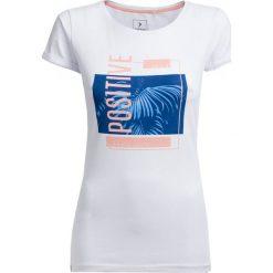 T-shirt damski TSD619 - biały - Outhorn. Białe t-shirty damskie Outhorn, z bawełny. W wyprzedaży za 24,99 zł.
