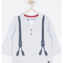 Koszulka. Szare t-shirty chłopięce z długim rękawem SUPER COOL, z aplikacjami, z bawełny. Za 42,90 zł.