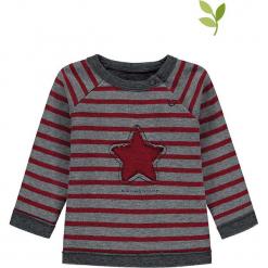 Bluza w kolorze szaro-czerwonym. Czerwone bluzy dziewczęce rozpinane marki bellybutton, z aplikacjami, z bawełny. W wyprzedaży za 42,95 zł.