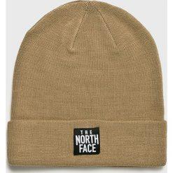 The North Face - Czapka. Brązowe czapki zimowe damskie marki The North Face, na zimę, z dzianiny. Za 99,90 zł.