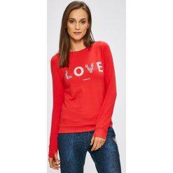 Femi Stories - Bluza. Czerwone bluzy z nadrukiem damskie Femi Stories, l, z bawełny, bez kaptura. W wyprzedaży za 219,90 zł.