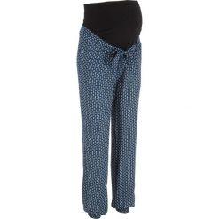 Spodnie ciążowe WIDE bonprix ciemnoniebieski wzorzysty. Niebieskie spodnie ciążowe marki bonprix, z materiału, z dekoltem w serek. Za 109,99 zł.
