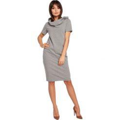 CHER Sukienka z kapturem i zamkami - szara. Czarne sukienki mini marki Sinsay, l, z kapturem. Za 154,90 zł.