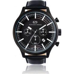 Zegarek Giacomo Design Elegancki  męski GD01001. Czarne zegarki męskie Giacomo Design. Za 599,00 zł.
