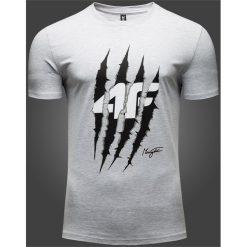 T-shirty męskie: T-shirt męski Maciek Kot Collection TSM500 – szary melanż