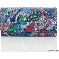Portfele damskie: Skórzany portfel damski Paolo Peruzzi motyle 640