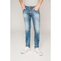 Diesel - Jeansy Thommer. Niebieskie jeansy męskie skinny Diesel. W wyprzedaży za 449,90 zł.